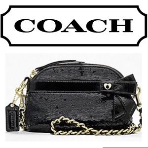 Coach Poppy Sequins Mini Gem black Crossbody